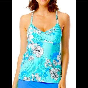 BEACH HOUSE LUCY TWIST FLORAL TANKINI TOP SIZE 6
